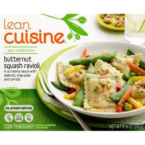 Lean cuisine butternut squash ravioli best frozen for Are lean cuisine meals healthy