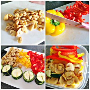 meal prep vegetable cutting