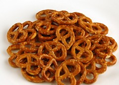 Salted Pretzels 52 grams = 200 Calories