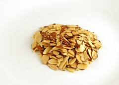 Sliced and Toasted Almonds 35 grams = 200 Calories