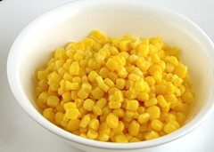Canned Sweet Corn 308 grams = 200 Calories